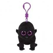 Ty Beanie Pluche Gorilla knuffel sleutelhanger George Ty Beanie 12 cm