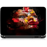 VI Collections Flowering Face Printed Vinyl Laptop Decal 15.5