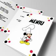 Meniuri de botez cu Mickey Mouse - 2 modele