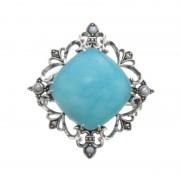 SS シードパール&アマゾナイトブローチ/ペンダントヘッド【QVC】40代・50代レディースファッション