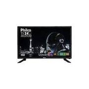 Smart TV LED 24'' Philco PTV24N91SA HD com Conversor Digital 1 HDMI 1 USB Wi-Fi Closed Caption 60Hz Android - Preto