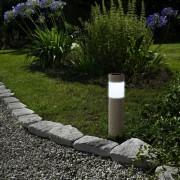 Napelemes kerti leszúrható kőhatású Abosa lámpa 38 cm hideg fehér