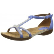 Clarks Women's Blue Leather Fashion Sandals - 5 UK/India (38 EU)