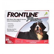 Frontline Plus For Extra Large Dogs 40 To 60kg (Red) 3 Pipettes