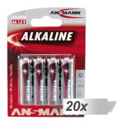 20x4 Ansmann Alkaline Mignon AA LR 6 red-line