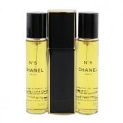No.5 Eau De Parfum Purse Spray And 2 Refills 3x20ml/0.7oz No.5 Парфțм Спрей за Дамска Чанта и 2 Пълнителя