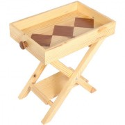 SMALSHOP Pine Wood Folding Side Table