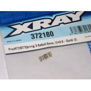 XRay 372180 X12 Front coil springs C=3.5 - Gold Hard(Pair)