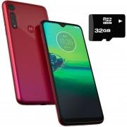 Celular Motorola Moto G8 Play 32GB 2Gb Ram DualSim +Micro SD 32GB Frambuesa