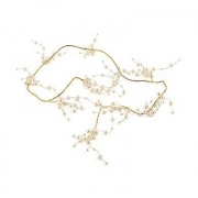 Confetti Pearl & Vintage Gold Wire Ornamental Garland