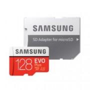 128GB microSDCX, Samsung EVO Plus + Adapter (MB-MC128GA/EU), Class10, UHS-I, скорост на четене 100MB/s, скорост на запис 90MB/s