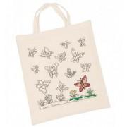Motylki - torba do pokolorowania + kredki