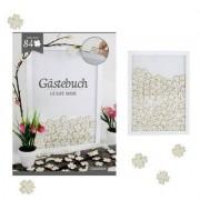 geschenkidee.ch Gästebuch im Rahmen Kleeblätter