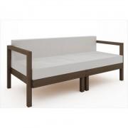 Sofá 2 Lugares Componível com Almofadas Lazy Nogueira - Mão & Formão
