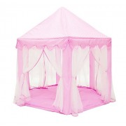 Eyotool Princess Castle Kids Teepee Tent Outdoor and Indoor Baby Playhouse with Colorful Stars Light String (55 X 53 inches)(Pink)