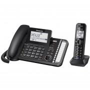 Teléfono Fijo De 2 Lineas + 1 Inalámbricos Panasonic Kx-tg9581-Negro