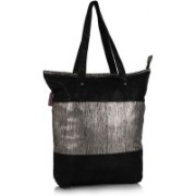 Home Heart Girls Silver, Black Tote