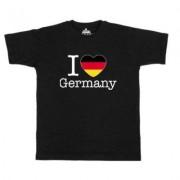 geschenkidee.ch Ländershirt Deutschland, Schwarz, S, Mann