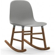 Normann Copenhagen Krzesło bujane Form drewno orzechowe szare