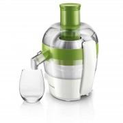 Storcator de fructe si legume Philips Viva Collection HR1832/52, 500 W, Recipient suc 0.5 l, Recipient pulpa 1 l, Alb/Verde