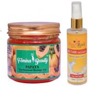 Femina Beauty Papaya Gel 400gm with Pink Root De-Tan Face Wash 100ml