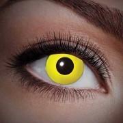 Geen UV flits party lenzen geel