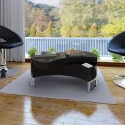 vidaXL Soffbord Futurm 80x32,5cm svart