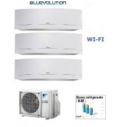 Daikin Kit Trial Emura White 3mxm68m/n + 2 X Ftxj25mw Wi-Fi + Ftxj35mw Wi-Fi 9+9+12
