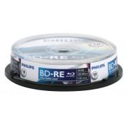Blu-Ray disk Rewritable, 25GB, 2x, 10 buc/Cakebox, PHILIPS