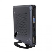 HUNSN Mini PC,Desktop Computer,with Windows 10 Pro/Linux Ubuntu Support,AMD Quad Core LX 420,(Black), BH06,[COM/VGA/HDMI/LAN/6USB2.0/2USB3.0/Fan],(4G RAM/512G SSD)