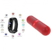 M3 fitness band and F Pill bluetooth speaker|Smart phones compatiable fitness band|| Heart rate band||Health Watch|| Calories Tracker Band|| Step Count Band||fitness tracker|| bluetooth smart band ||Wrist Watch band|| smart band ||With Alarm System||Best