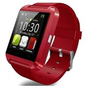 Bluetooth Smart Watch Fit for Samsung Galaxy S4/S5/S6 Edge Note 3/4/5 HTC Nexus Sony LG Huawei Android Smartphones (Black) (Red)