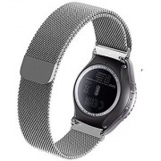 Cbin Samsung Galaxy Gear S2 Classic Smartwatch Band Stainless Steel Fully Magnetic Closure Milanese Bracelet SM-R732 SM-R735- Silver