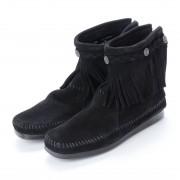 【SALE 35%OFF】ミネトンカ Minnetonka Hi Top Back Zip Boots (ブラック) レディース