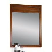 Grand miroir rectangulaire en bois