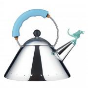 Alessi Tea Rex fluitketel blauw