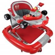 Andadera para Bebe de Lujo Mecedora Tablero Musical Racing Rojo