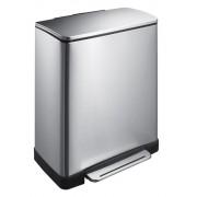 Кош за разделно събиране на отпадъци с педал Eko E-Cube, 28 + 18 л - мат