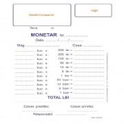 Monetare Personalizate A6 in 2 Exemplare, 50 Carnete/Set, Tipar 1+1, Formulare Tipizate Autocopiative, Formulare A6 Personalizate, Tipizate Personalizate, Monetar Personalizat