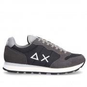Sun68 Scarpe Uomo Sneakers Tom Solid Nylon Nero - Grigio Chiaro