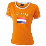 Shoppartners Oranje contrast shirt met Holland print