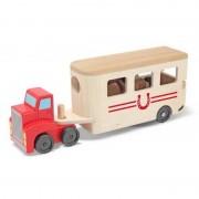 Melissa Doug camion transport de cai cu remorca