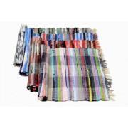 Rongyszőnyeg, vegyes szálú, 70x140 cm