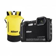 Nikon Coolpix W300 Holiday Kit Aparat Foto Compact Subacvatic Video 4K Wi-Fi Negru