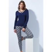 Pijama eleganta Tie albastrui L