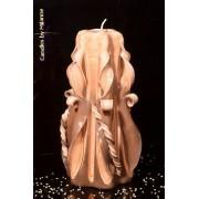 Designkaarsen com Kaars, handgesneden, 22 cm (zeer exclusief) 50617 - kaarsen