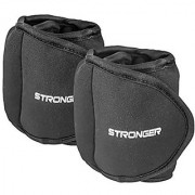 Stronger Ankle Weights Set (2x1lbs Cuffs) - Train Like A Model - At Home Workout Equipment for Slimming Thighs Toning Glutes & More