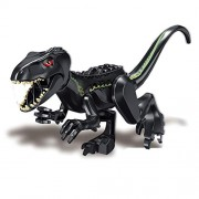 Generic Jurassic Dinosaur Figures T-Rex Indomirus Pterosauria Triceratop Dinosaurs Animal World Building Block Brick Toys ZM307 Dark Gray
