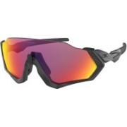 Oakley Flight Jacket Sports Sunglasses(Red)