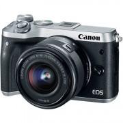 Panasonic CANON EOS M6 + EF-M 15-45mm IS STM - Argento - 2 Anni Di Garanzia In Italia